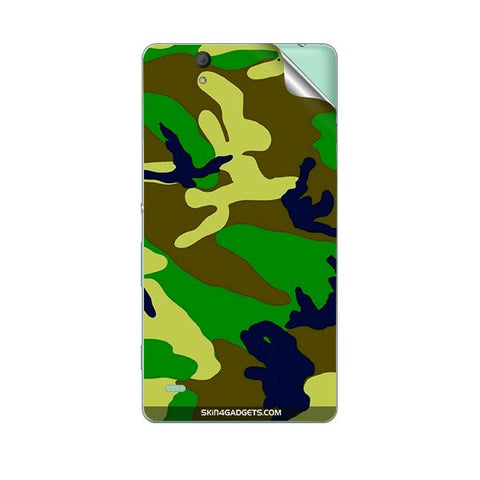 Camouflage - Green For SONY XPERIA M Skin