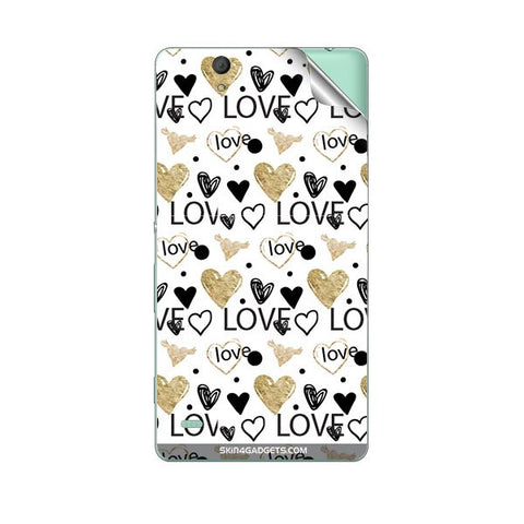 Heart and Love Doodle For SONY XPERIA M Skin