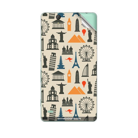 Wonders of the World For SONY XPERIA M Skin