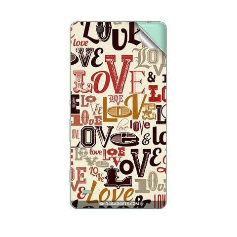 Love typography For SONY XPERIA M Skin
