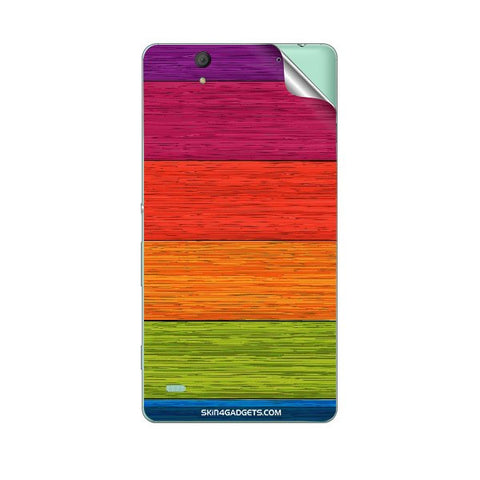 Multicolor Wooden Planks For SONY XPERIA M Skin