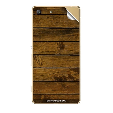 Brown Wooden Planks For SONY XPERIA Z5 DUAL Skin