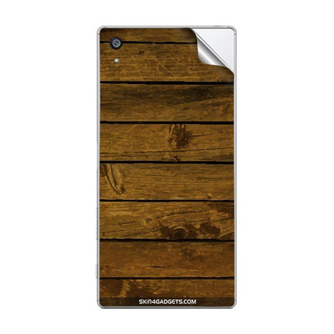 Brown Wooden Planks For SONY XPERIA Z5 PRIMIUM Skin
