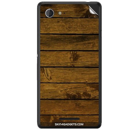 Brown Wooden Planks For SONY XPERIA E3 Skin