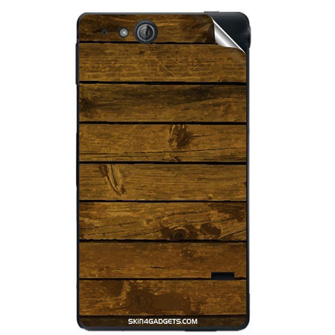 Brown Wooden Planks For SONY XPERIA GO (St27I) Skin