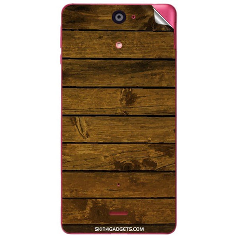 Brown Wooden Planks For SONY XPERIA J (ST26I) Skin