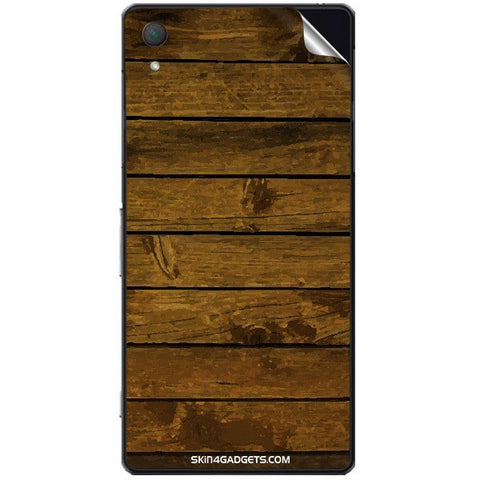 Brown Wooden Planks For SONY XPERIA Z2 (L50w) Skin