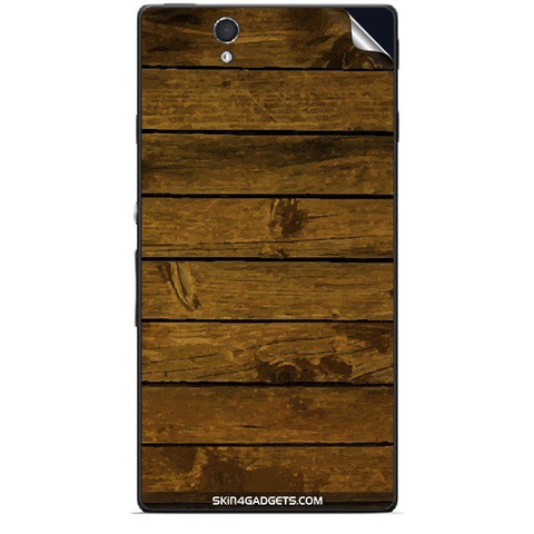 Brown Wooden Planks For SONY XPERIA Z (L36h) Skin