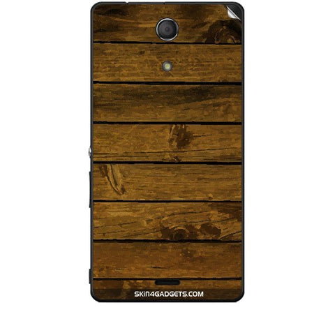 Brown Wooden Planks For SONY XPERIA ZR (M36H) Skin