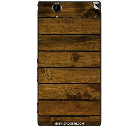 Brown Wooden Planks For SONY XPERIA T2 ULTRA Skin