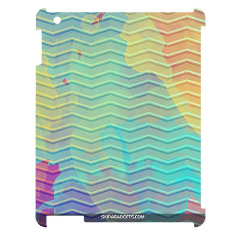 Colourful Waves For APPLE IPAD 4 Designer CASE