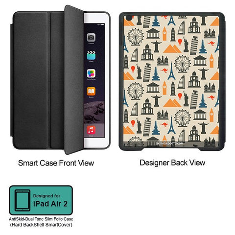 Wonders of the World For APPLE IPAD AIR2 BLACK SMART CASE