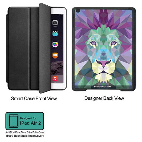 Magestic Lion For APPLE IPAD AIR2 BLACK SMART CASE