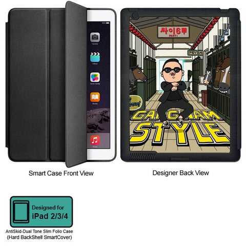 Universal Music Officially Licensed PSY - Gangnam Style - Tablet Designer BLACK SMART CASE for APPLE IPAD 2,IPAD 3,IPAD 4,