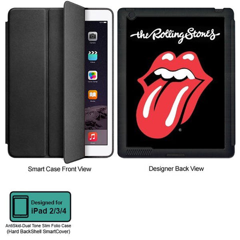 Universal Music Officially Licensed Rolling Stones -40 Licks Tablet Designer BLACK SMART CASE for APPLE IPAD 2,IPAD 3,IPAD 4,