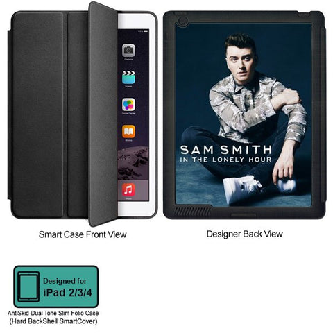 Universal Music Officially Licensed Sam Smith -Style 1 Tablet Designer BLACK SMART CASE for APPLE IPAD 2,IPAD 3,IPAD 4,