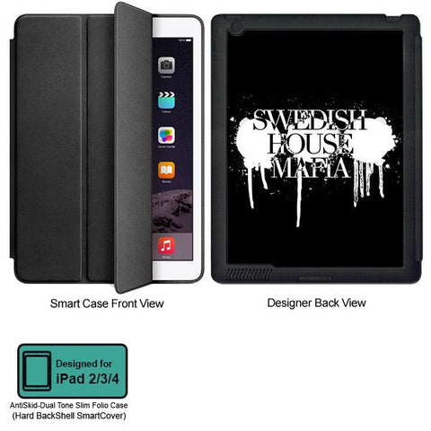 Universal Music Officially Licensed Swedish House Mafia -Logo #1 Tablet Designer BLACK SMART CASE for APPLE IPAD 2,IPAD 3,IPAD 4,