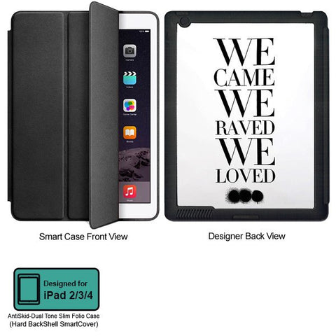 Universal Music Officially Licensed Swedish House Mafia -We Came We Raved Tablet Designer BLACK SMART CASE for APPLE IPAD 2,IPAD 3,IPAD 4,