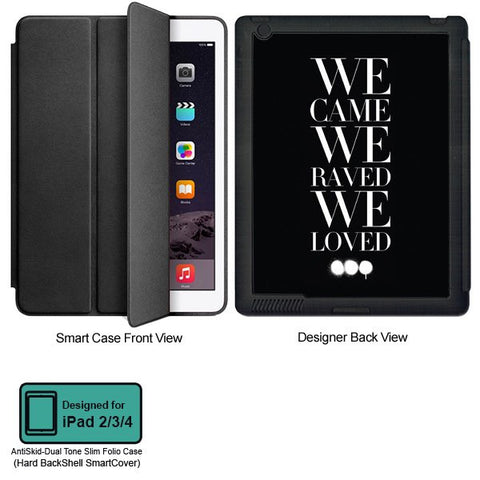 Universal Music Officially Licensed Swedish House Mafia -We Came We Raved #2 Tablet Designer BLACK SMART CASE for APPLE IPAD 2,IPAD 3,IPAD 4,