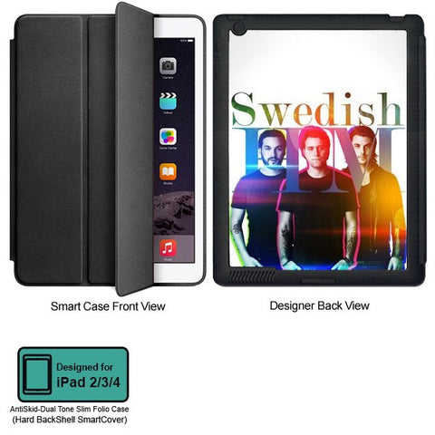 Universal Music Officially Licensed Swedish House Mafia -Group Band Tablet Designer BLACK SMART CASE for APPLE IPAD 2,IPAD 3,IPAD 4,