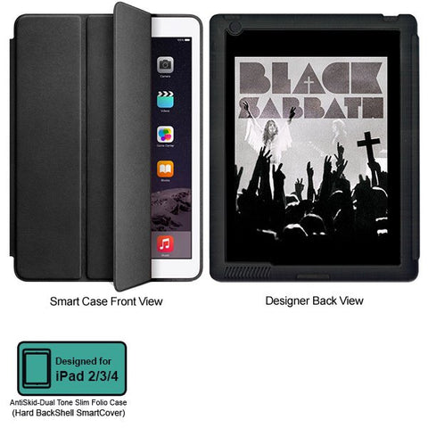 Universal Music Officially Licensed Black Sabbath -Style 1 Tablet Designer BLACK SMART CASE for APPLE IPAD 2,IPAD 3,IPAD 4, - skin4gadgets
