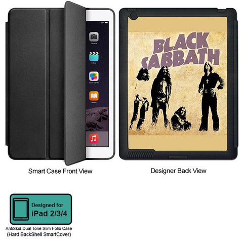 Universal Music Officially Licensed Black Sabbath -Style 2 Tablet Designer BLACK SMART CASE for APPLE IPAD 2,IPAD 3,IPAD 4, - skin4gadgets