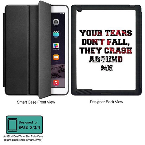 Universal Music Officially Licensed Bullet for my Valentine -Tears Tablet Designer BLACK SMART CASE for APPLE IPAD 2,IPAD 3,IPAD 4,