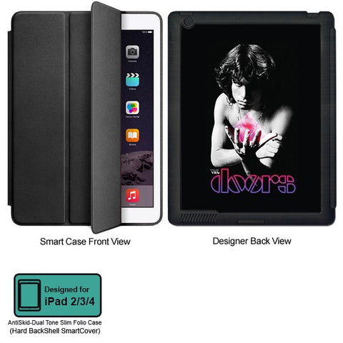 Universal Music Officially Licensed Doors -Style 1 Tablet Designer BLACK SMART CASE for APPLE IPAD 2,IPAD 3,IPAD 4,