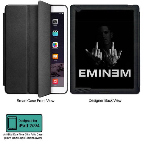 Universal Music Officially Licensed Eminem Middle Fingers- Tablet Designer BLACK SMART CASE for APPLE IPAD 2,IPAD 3,IPAD 4,