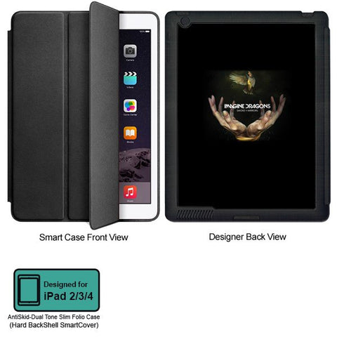 Universal Music Officially Licensed Imagine Dragons- Tablet Designer BLACK SMART CASE for APPLE IPAD 2,IPAD 3,IPAD 4,