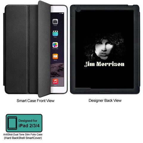 Universal Music Officially Licensed Jim Morrison -Black and White Tablet Designer BLACK SMART CASE for APPLE IPAD 2,IPAD 3,IPAD 4,