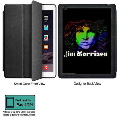 Universal Music Officially Licensed Jim Morrison -Style 3 Tablet Designer BLACK SMART CASE for APPLE IPAD 2,IPAD 3,IPAD 4,