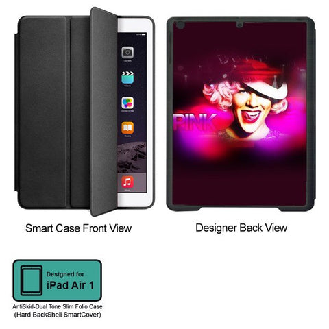 Universal Music Officially Licensed Pink -Style 3 Tablet Designer BLACK SMART CASE for APPLE IPAD AIR1,