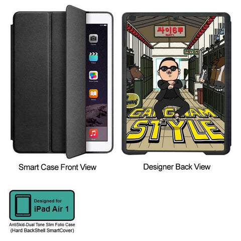 Universal Music Officially Licensed PSY - Gangnam Style - Tablet Designer BLACK SMART CASE for APPLE IPAD AIR1,