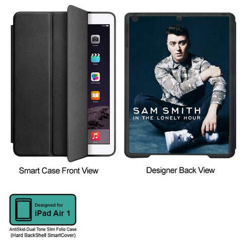 Universal Music Officially Licensed Sam Smith -Style 1 Tablet Designer BLACK SMART CASE for APPLE IPAD AIR1,