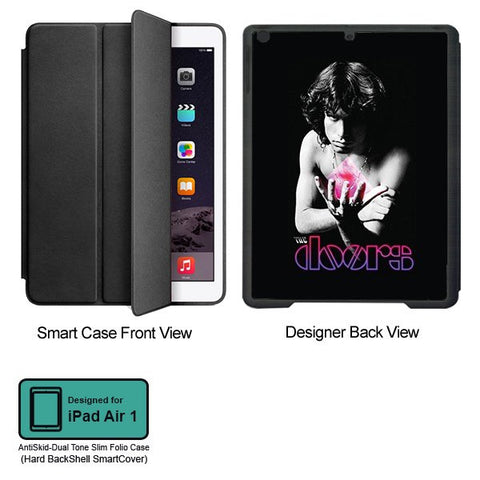 Universal Music Officially Licensed Doors -Style 1 Tablet Designer BLACK SMART CASE for APPLE IPAD AIR1,