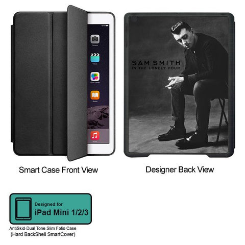 Universal Music Officially Licensed Sam Smith -Style 2 Tablet Designer BLACK SMART CASE for APPLE IPAD MINI 1,IPAD MINI 2, IPAD MINI 3,