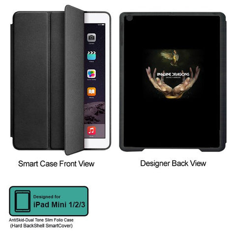 Universal Music Officially Licensed Imagine Dragons- Tablet Designer BLACK SMART CASE for APPLE IPAD MINI 1,IPAD MINI 2, IPAD MINI 3,