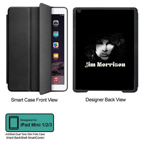 Universal Music Officially Licensed Jim Morrison -Black and White Tablet Designer BLACK SMART CASE for APPLE IPAD MINI 1,IPAD MINI 2, IPAD MINI 3,