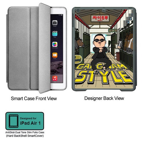 Universal Music Officially Licensed PSY - Gangnam Style - Tablet Designer GRAY SMART CASE for APPLE IPAD AIR1