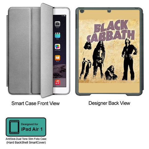 Universal Music Officially Licensed Black Sabbath -Style 2 Tablet Designer GRAY SMART CASE for APPLE IPAD AIR1 - skin4gadgets