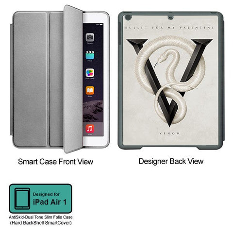Universal Music Officially Licensed Bullet for my Valentine -Venom Tablet Designer GRAY SMART CASE for APPLE IPAD AIR1