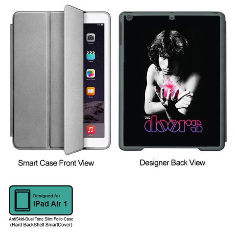 Universal Music Officially Licensed Doors -Style 1 Tablet Designer GRAY SMART CASE for APPLE IPAD AIR1