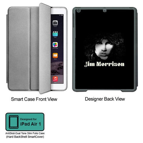 Universal Music Officially Licensed Jim Morrison -Black and White Tablet Designer GRAY SMART CASE for APPLE IPAD AIR1