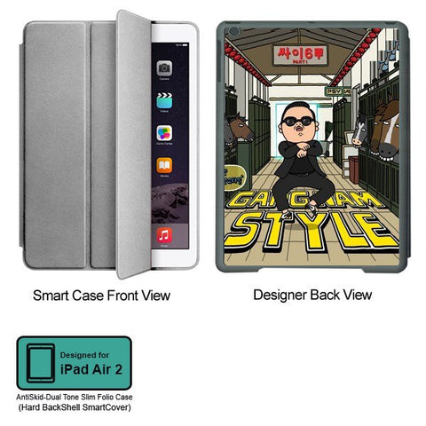 Universal Music Officially Licensed PSY - Gangnam Style - Tablet Designer GRAY SMART CASE for APPLE IPAD AIR2
