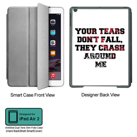 Universal Music Officially Licensed Bullet for my Valentine -Tears Tablet Designer GRAY SMART CASE for APPLE IPAD AIR2