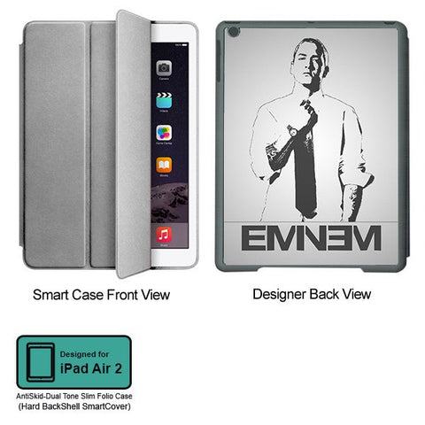 Universal Music Officially Licensed Eminem Style - Tablet Designer GRAY SMART CASE for APPLE IPAD AIR2