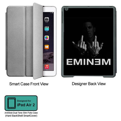 Universal Music Officially Licensed Eminem Middle Fingers- Tablet Designer GRAY SMART CASE for APPLE IPAD AIR2