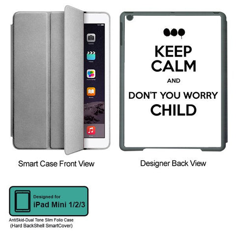 Universal Music Officially Licensed Swedish House Mafia -Don't You Worry Child #2 Tablet Designer GRAY SMART CASE for APPLE IPAD MINI 1, APPLE IPAD MINI 2, APPLE IPAD MINI 3