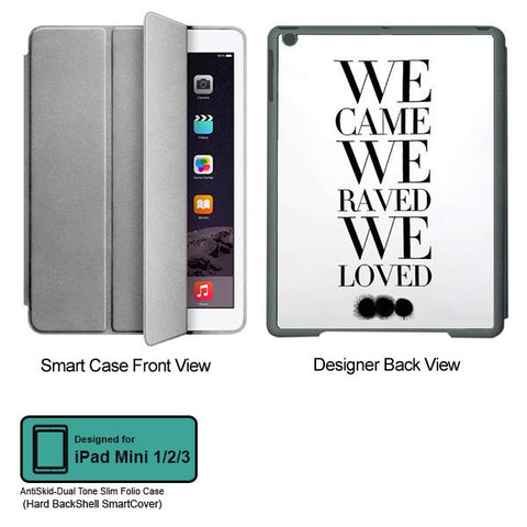 Universal Music Officially Licensed Swedish House Mafia -We Came We Raved Tablet Designer GRAY SMART CASE for APPLE IPAD MINI 1, APPLE IPAD MINI 2, APPLE IPAD MINI 3